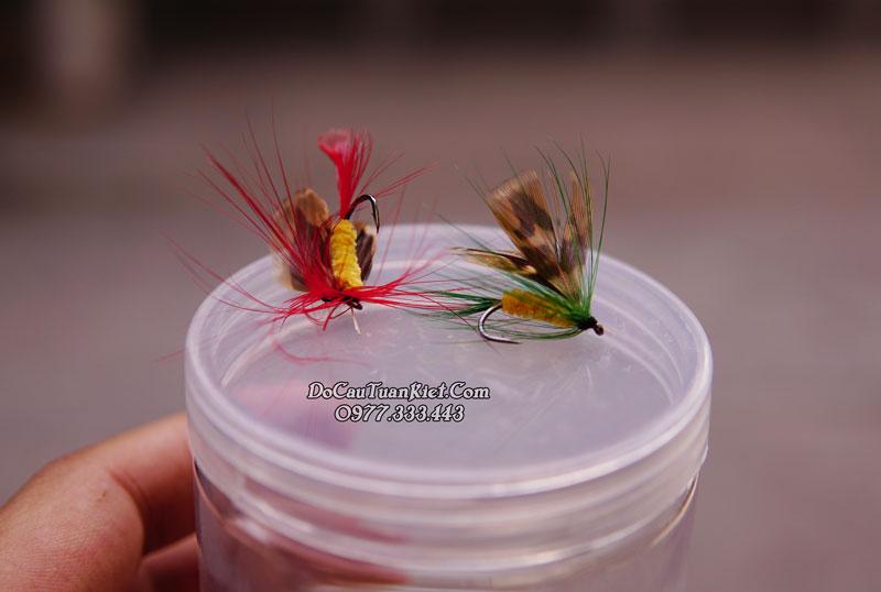 Mồi muỗi lông giả câu cá mương cá chày