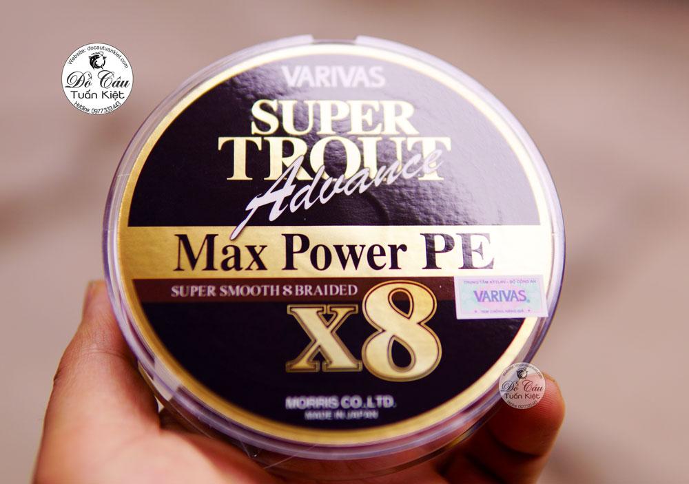 Dây Pe Varivas Super Trout Advance Max Power X8